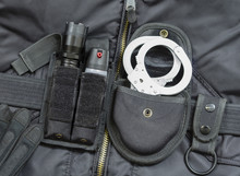 Police Equipment. Metal Handcu...