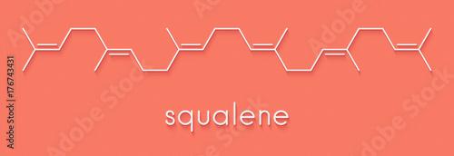 Photo Squalene natural hydrocarbon molecule