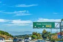 Parkway Calabasas Exit Sign On...