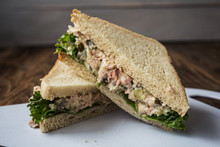Tuna Pickles Sandwich With Sal...