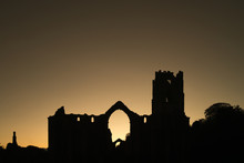 Fountains Abbey Sunset