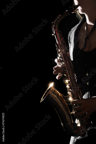 Papiers peints Musique Saxophone Player Saxophonist playing jazz music