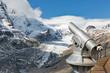 Tourist telescope in Grossglockner, High Alps, Austria.
