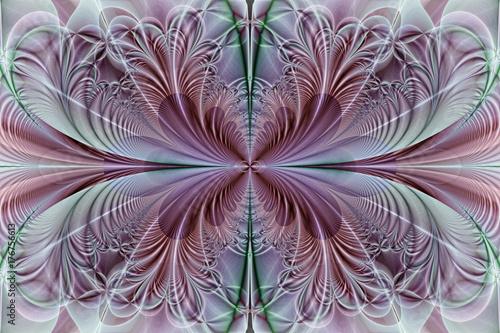 Zdjęcie XXL Fraktalny obraz: Lot motyli