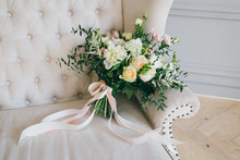 Rustic Wedding Bouquet With Cr...