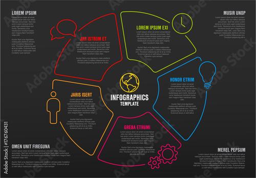 Vector multipurpose Infographic template Fototapet