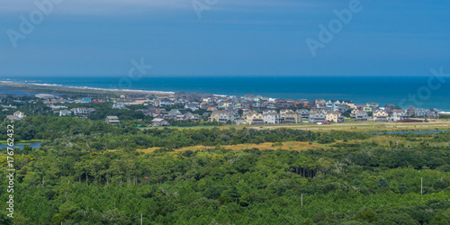 Photo Aerial view from the top of Hatteras Lighthouse