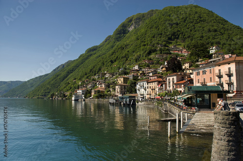 Argegno, little town in the  western branch of lake Como Wallpaper Mural