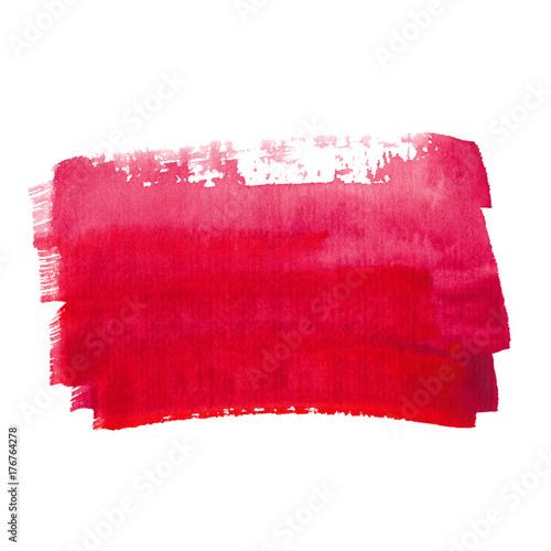 Plakat Czerwony streszczenie tło akwarela
