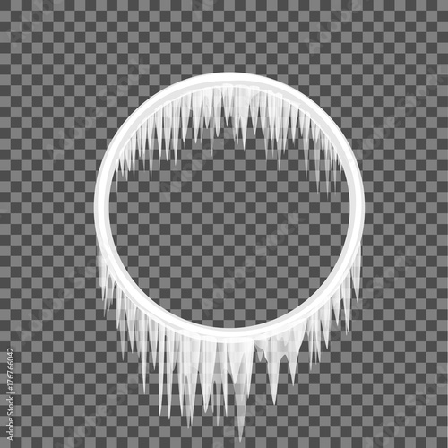 circle frame icicles Wallpaper Mural