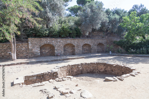 Fotografie, Tablou Ancient baptismal basin in the suburbs of Ephesus, Natural Park of the Virgin Ma