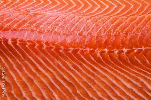 Macro shoot texture raw fresh salmon fillet