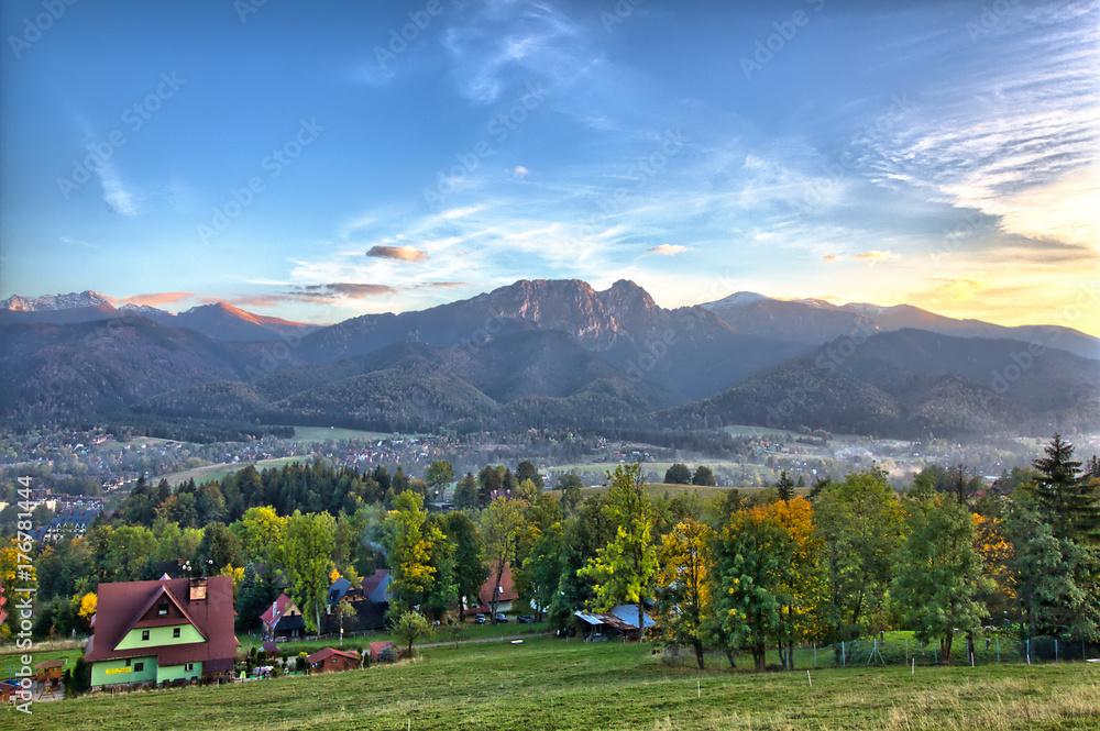 Fototapety, obrazy: Zakopane - Tatra Mountains - Panorama with view on Giewont