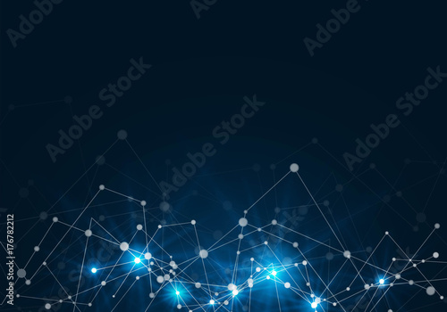 Fototapeta Abstract network connection background. Technology concept. obraz na płótnie