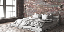 Minimalistik Bedroom Mock Up I...