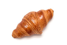 Fresh Croissant Isolated On Wh...