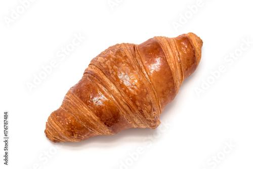 Carta da parati Fresh croissant isolated on white background, top view
