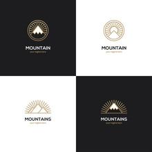 Four Mountain Logo In Golden C...