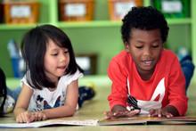 Children  Having Fun On Learni...