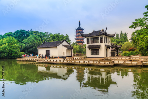 Photo Stands Bangkok Chinese classical architecture landscape