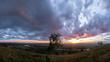 Beautiful sunset over the Irkut River