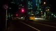Night lapse 4K resolution slow shutter at Shinjuku west side crossing