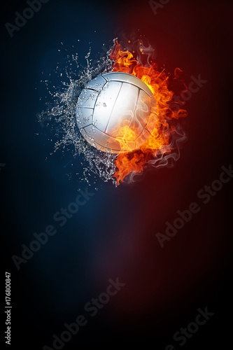 Photo  Volleyball sports tournament modern poster template