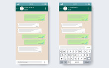 Chat App Template Whith Mobile Keyboard.