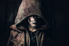 Male Zombie With Hood Looking ...