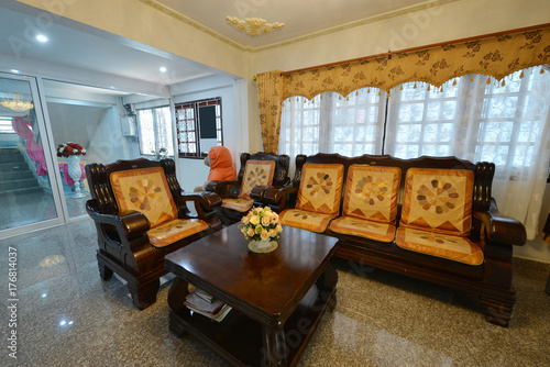 Elegant Oriental Classic Vintage Chinese Living Room Interior