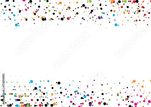 Plakat streszczenie kropka tło. Projekt kropki wektorowej. Okrąg sztuki okrągłe tło. wzór dekoracji. czerwony niebieski zielony czarny różowy kolor.