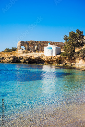 фотография Agios Ioannis chapel on Aliko beach in Naxos island, Cyclades, Greece