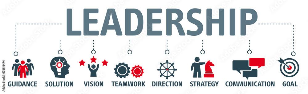 Fototapeta Banner leadership concept