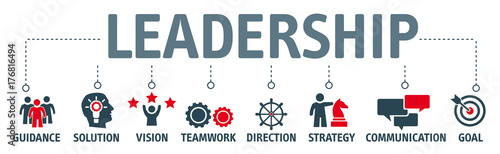 Photo  Banner leadership concept