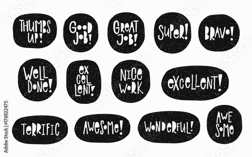 Nice work good job well done thumbs up awesome bravo super excellent sticker quote lettering