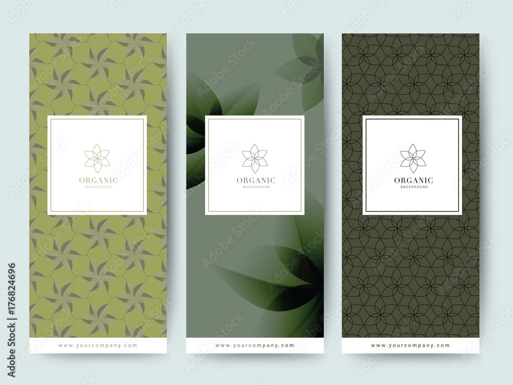Fototapety, obrazy: Branding Packaging tropical plant leaf summer pattern background, for spa resort luxury hotel, logo banner voucher, fabric pattern, organic texture. vector illustration.