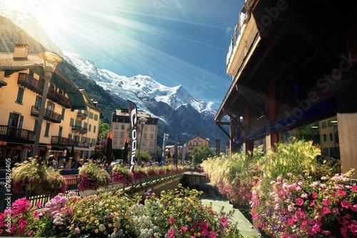 Zdjęcie XXL Piękny krajobraz w Chamonix Francja Alps.