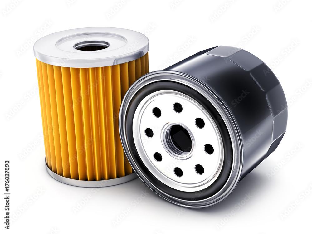 Fototapeta Two car oil filter