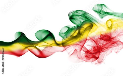 Fotografie, Obraz Ethiopia national smoke flag