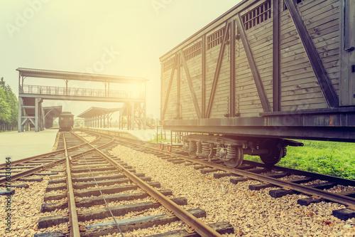 Plakat Stary dworzec kolejowy