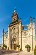 View at the facade of Santiago church in Jerez de la Frontera, Spain