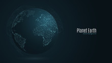 Abstract Planet Earth. Blue Ma...