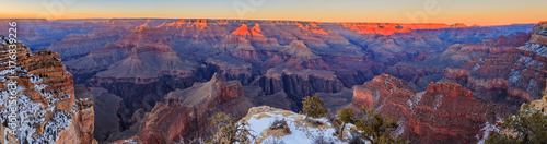 Fotografia Panorama vom Grand Canyon Südseite im Winter