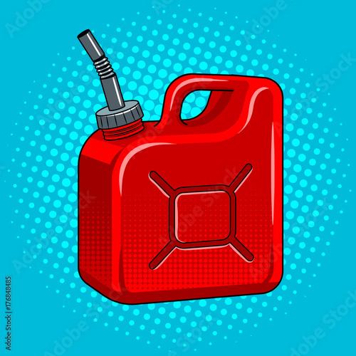 Valokuvatapetti Gasoline jerrycan pop art vector illustration