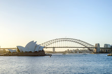 Sydney Opera House And Harbor Bridge, Sydney Harbour, Australia.
