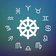 Horoscope Circle With A Dharma...