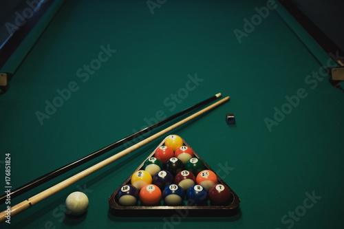 Photo Playing billiard