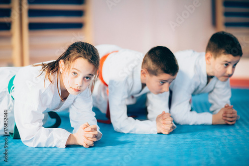 Fotobehang Vechtsport Children in Martial Arts Training