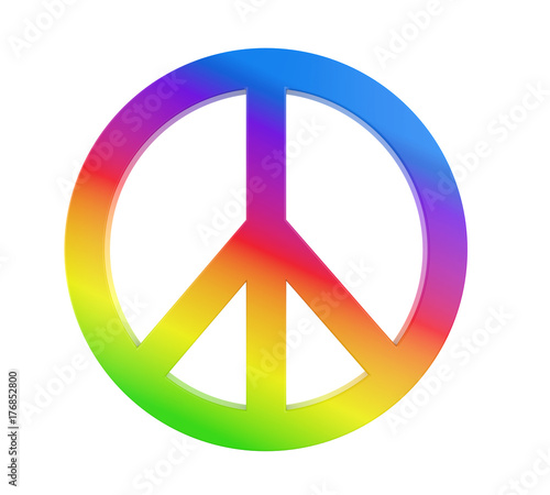 Valokuvatapetti Peace Symbol Isolated