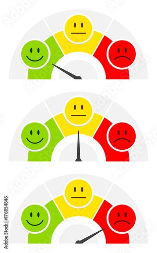 Photo 3 Smileys Color Barometer Public Opinion Horizontal